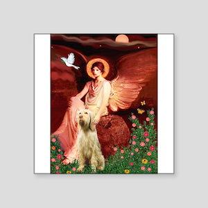 "Seated Angel /Italian Spinone Square Sticker 3"" x"