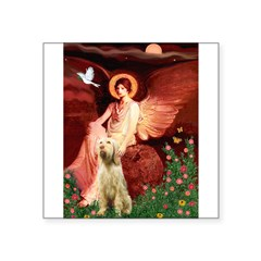 Seated Angel /Italian Spinone Square Sticker 3