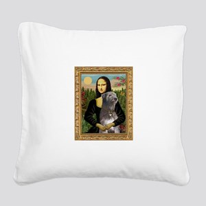 Mona / Irish Wolf Square Canvas Pillow