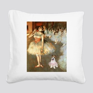 BalletClass-JackRussell #11 Square Canvas Pillow