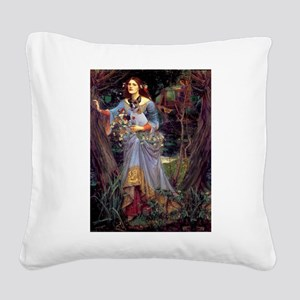 Ophelia / JRT Square Canvas Pillow