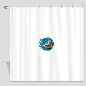 North Carolina - Surf City Shower Curtain
