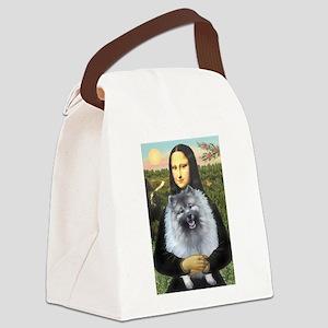 Mona Lisa / Keeshond (F) Canvas Lunch Bag