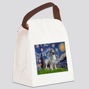 Starry / Keeshond Canvas Lunch Bag