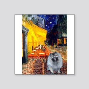 """Terrace Cafe - Keeshond (F) Square Sticker 3"""""""