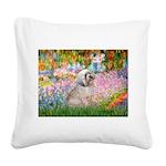 Garden / Lhasa Apso Square Canvas Pillow