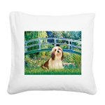 Bridge / Lhasa Apso #4 Square Canvas Pillow