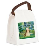 Bridge / Lhasa Apso #4 Canvas Lunch Bag