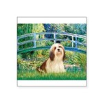 Bridge / Lhasa Apso #4 Square Sticker 3