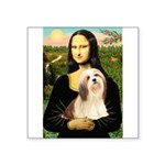 Mona / Lhasa Apso #4 Square Sticker 3