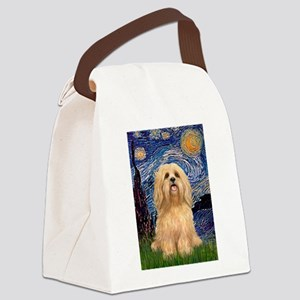Starry / Lhasa Apso #9 Canvas Lunch Bag