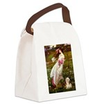 Windflowers / Lhasa Apso #4 Canvas Lunch Bag