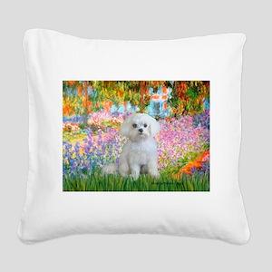 Garden / Maltese Square Canvas Pillow