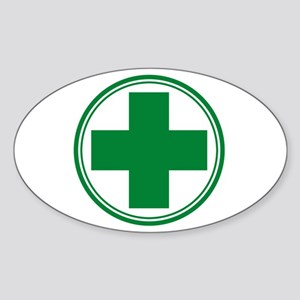 Green Cros Sticker