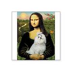 Mona Lisa / Maltese Square Sticker 3