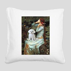Ophelia's Maltese Square Canvas Pillow
