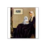 Whistler's Mother Maltese Square Sticker 3