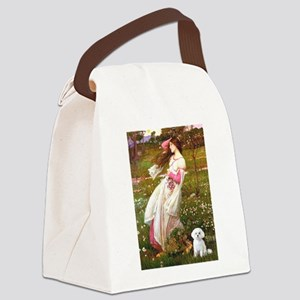 Windflowers / Maltese Canvas Lunch Bag