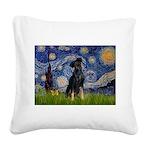 Starry / Min Pinscher Square Canvas Pillow