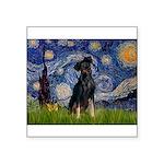Starry / Min Pinscher Square Sticker 3