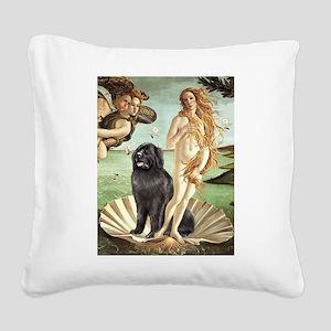 Venus & Newfoundland Square Canvas Pillow