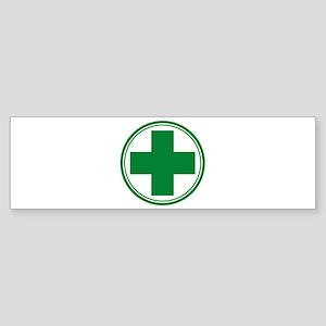 Simple Green Transparent Bumper Sticker
