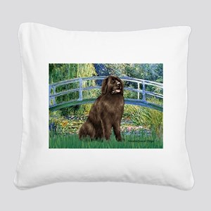Bridge / Newfoundland Square Canvas Pillow