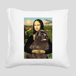 Mona's Newfoundland (B2) Square Canvas Pillow