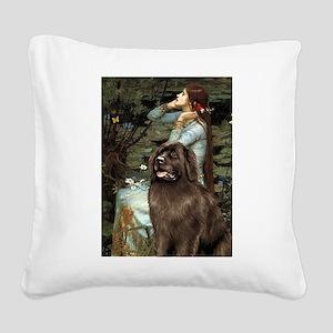 Ophelia / Newfoundland Square Canvas Pillow