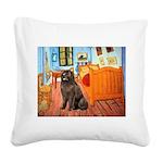 Room & Newfoundland Square Canvas Pillow
