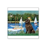 Sailboats & Newfoundland Square Sticker 3