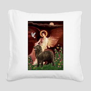 Angel & Newfoundland (B2S) Square Canvas Pillow