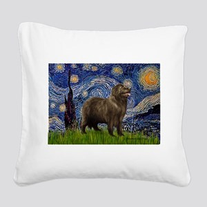 Starry / Newfound Square Canvas Pillow