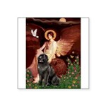 Angel & Newfoundland Square Sticker 3