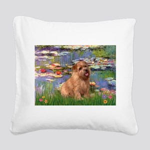 Lilies /Norfolk Terrier Square Canvas Pillow