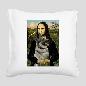Mona / Nor Elkhound Square Canvas Pillow
