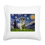 Starry / Nor Elkhound Square Canvas Pillow