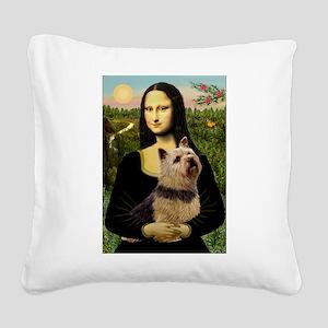 Mona / Norwich Terrier Square Canvas Pillow