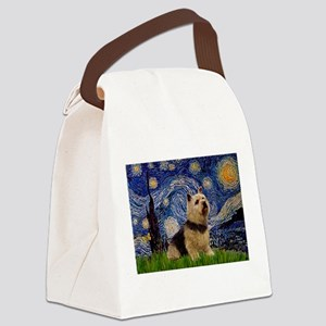 Starry /Norwich Terrier Canvas Lunch Bag