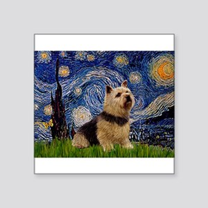 "Starry /Norwich Terrier Square Sticker 3"" x 3"""