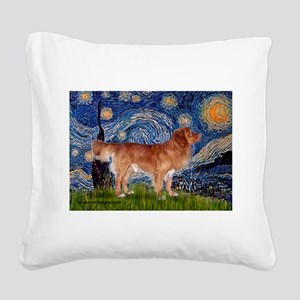 Starry / Nova Scotia Square Canvas Pillow