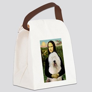 Mona's Old English Sheepdog Canvas Lunch Bag