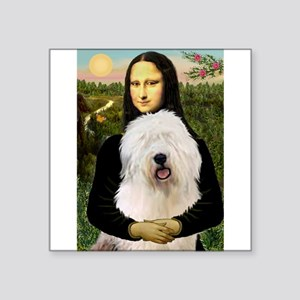 "Mona's Old English Sheepdog Square Sticker 3"" x 3"""