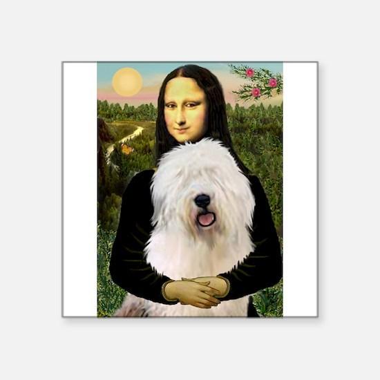 "Mona's Old English Sheepdog Square Sticker 3"" x 3"""