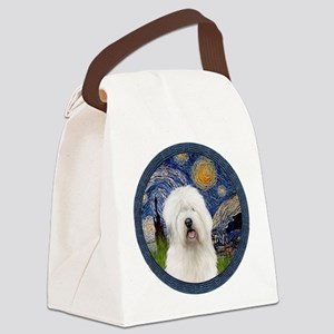 Starry Old English (#3) Canvas Lunch Bag