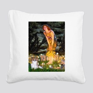 Fairies / Papillon (f) Square Canvas Pillow
