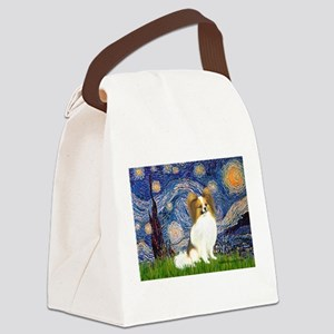 Starry Night Papillon (f) Canvas Lunch Bag