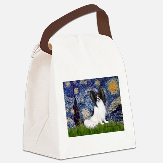 Starry Night Papillon Canvas Lunch Bag