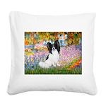 Garden & Papillon Square Canvas Pillow