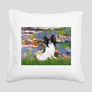 Lilies (2) & Papillon Square Canvas Pillow